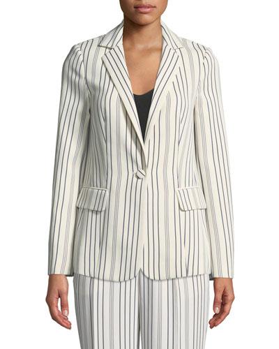 True Stripe One-Button Blazer