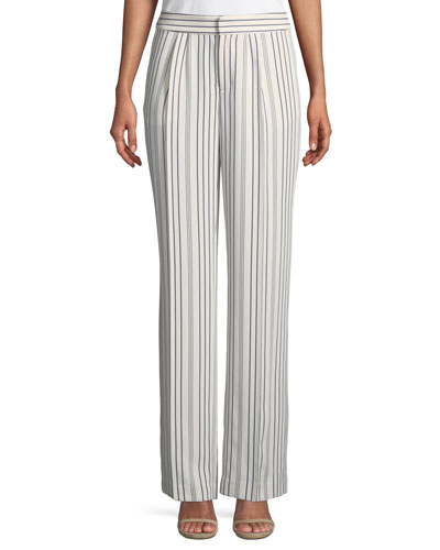 True Stripe Straight-Leg Pants