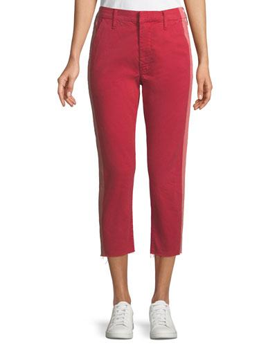 Shaker Prep Side-Stripe Pants w/ Released-Hem