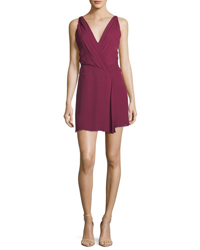Cassidy V-Neck Sleeveless Silk Mini Dress