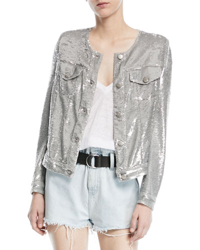 Dalome Button-Front Sequined Jacket