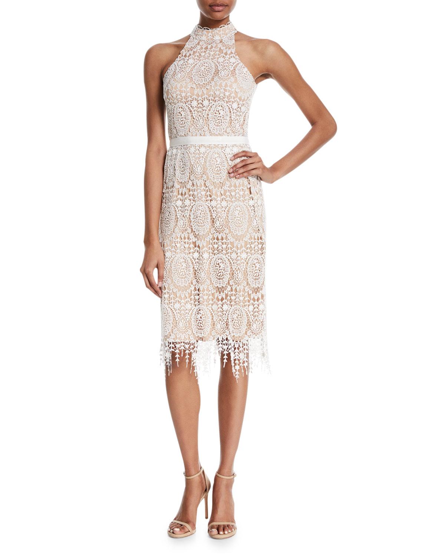 Katana Crochet Fringe Halter Dress