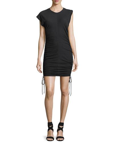 High-Twist Jersey Mini Dress w/ Tie Sides
