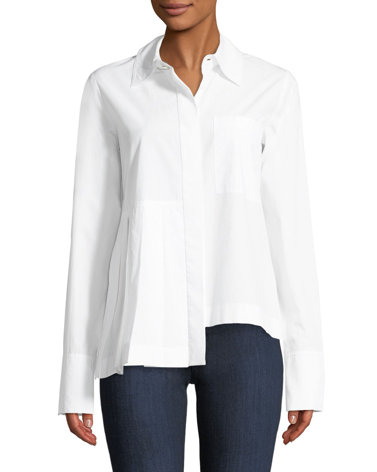 With Paypal Free Shipping Extremely Robert Rodriguez Woman Button-detailed Cotton And Linen-blend Top White Size 4 Robert Rodriguez Cheap Sale Cheap Professional Cheap Price eubBpWsq