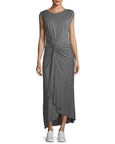 Emile Sleeveless Knot-Front Maxi Dress