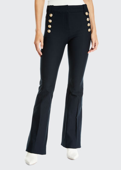 Flare Trousers w/ Sailor Buttons