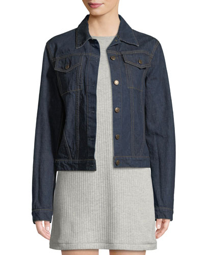 Re-Edition Archive Stripe Button-Front Denim Jacket