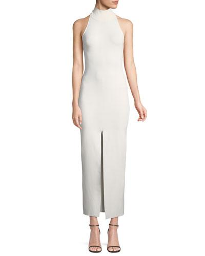 Kristen Mock-Neck Sleeveless Body-con Dress