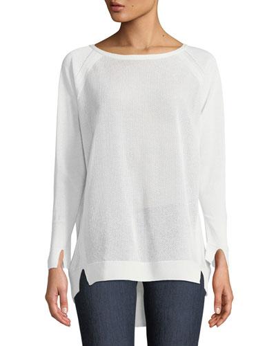 Bateau-Neck Oversized Sweater