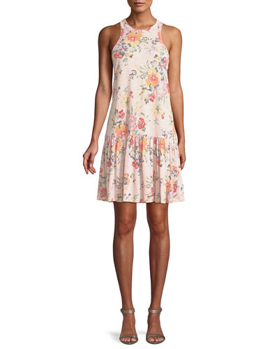 Marlena Sleeveless Floral-Print Jersey Dress