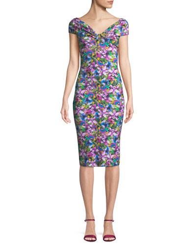 Marycarmen Floral Short-Sleeve Dress