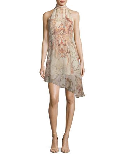 Morrison Slayer Sleeveless Halter Silk Dress