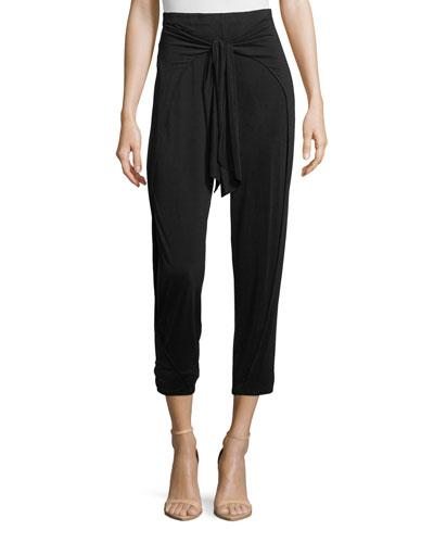 Sidewinder High-Waist Tie-Front Harem Pants