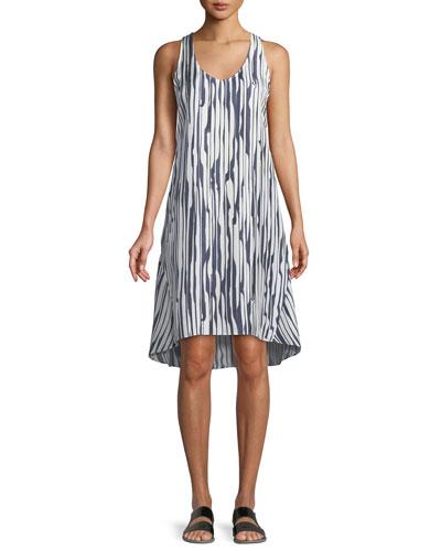 Adlerdale Broken-Stripe Silk Twill Dress
