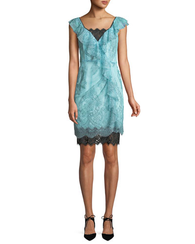 Lucious Illusion Lace Mini Dress