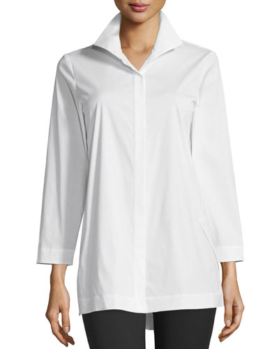 Lafayette 148 New York Stretch Cotton Marla Shirt