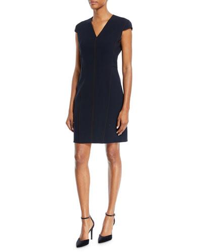Laurie Cap-Sleeve Dress