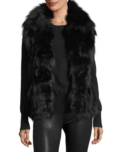 Fur Open-Front Vest