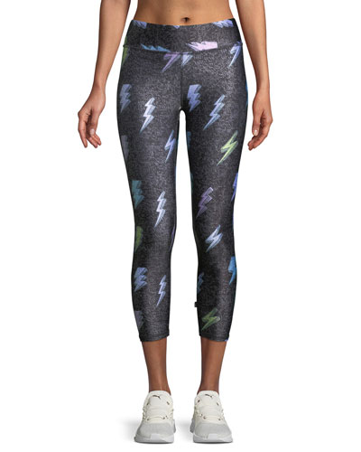 Tall Band Printed Capri Leggings