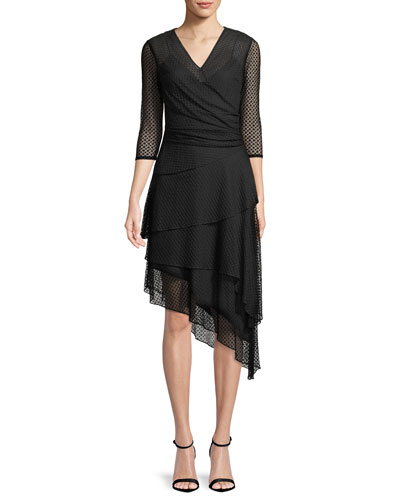 Mimi Point d'Esprit A-Line Dress