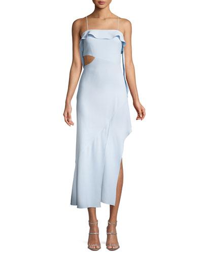 bea4102931cd2 Cutout High-Low Ruffle Cocktail Dress