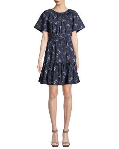 e023f616f2 Francine Floral-Print Cotton Dress with Cutout Back Quick Look. Rebecca  Taylor