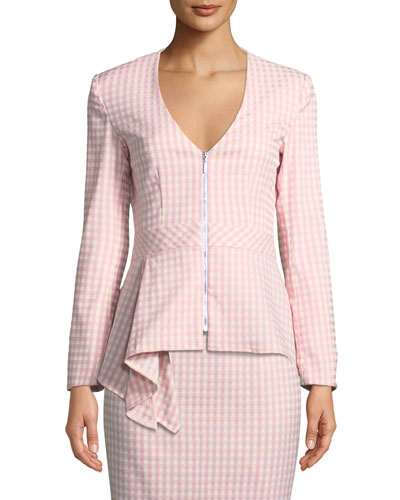 Grand Hotel Asymmetric-Peplum Jacket