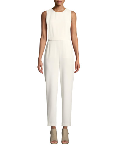 Remaline Structured Sleeveless Admiral Crepe Jumpsuit