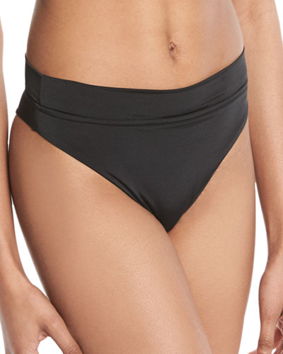 Rio High-Waist Swim Bikini Bottoms
