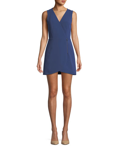 Lennon Side-Zip Mini Dress
