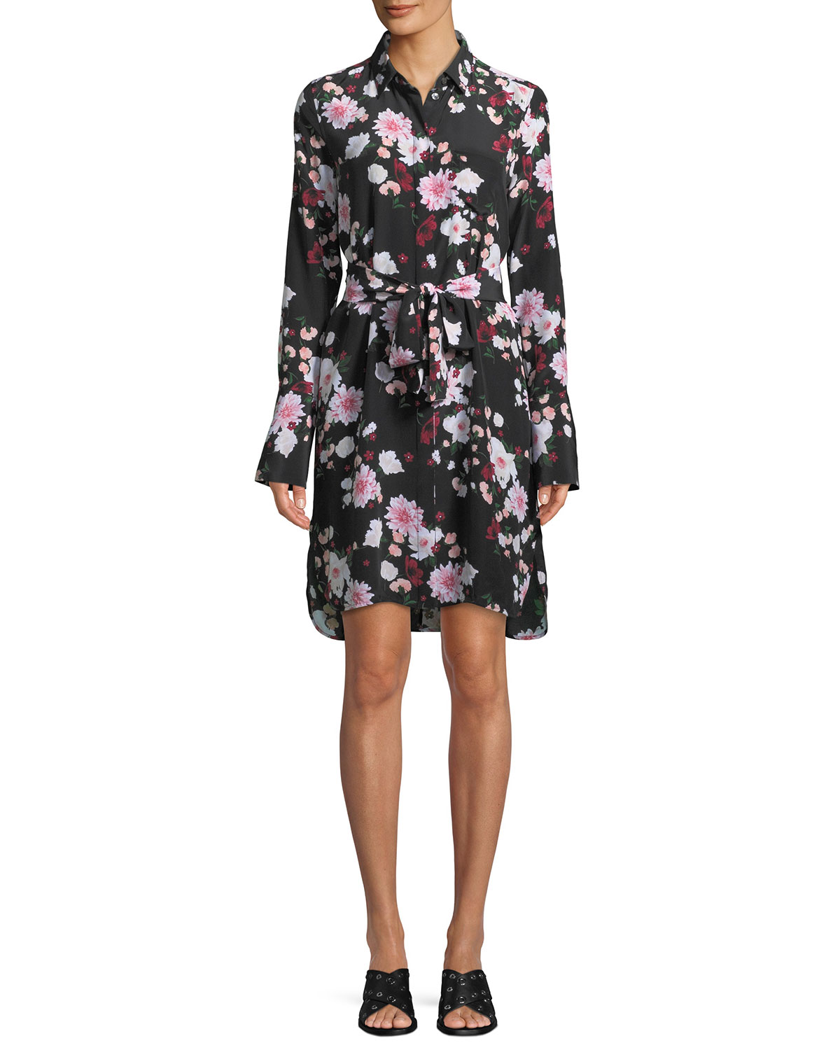 Clea Essential Garden Party Shirt Dress in Black