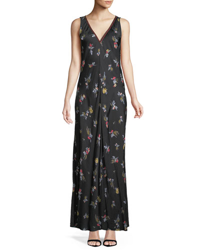 Highlands Floral Satin Maxi Dress