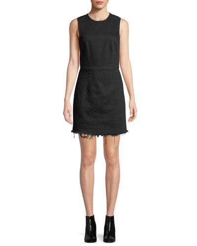 e6f4e24c811b8 Frayed Twill Sleeveless Mini Dress Quick Look. T by Alexander Wang