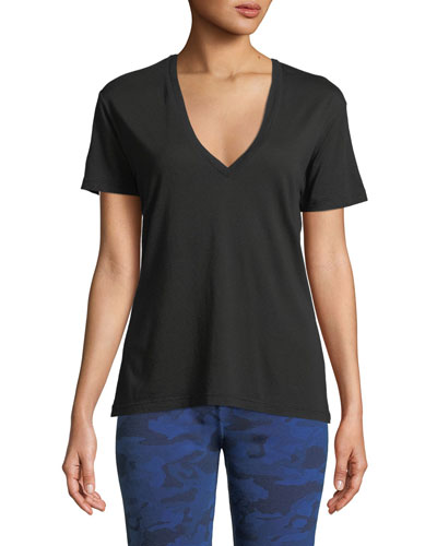 V-Neck Short-Sleeve Relaxed Tee