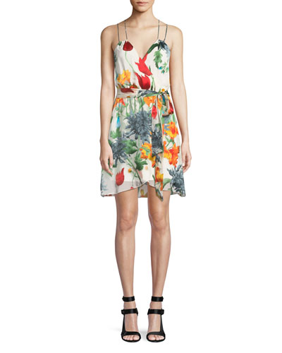 Susana Floral Faux-Wrap Dress