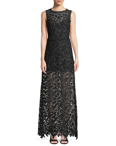 Danielle Floral Lace Sleeveless Maxi Dress