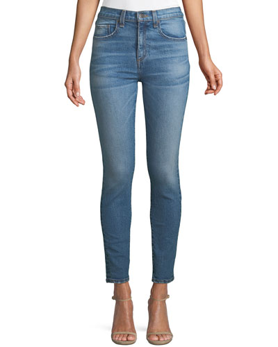 Faye High-Waist Skinny Ankle Jeans