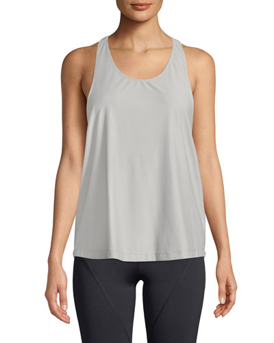 Logo T-Back Scoop-Neck Active Tank
