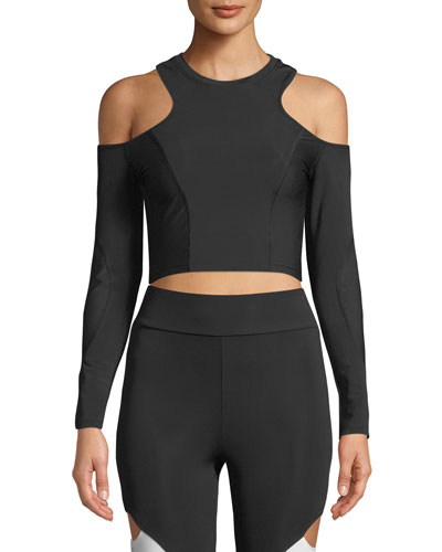 Hana Cold-Shoulder Crop Top