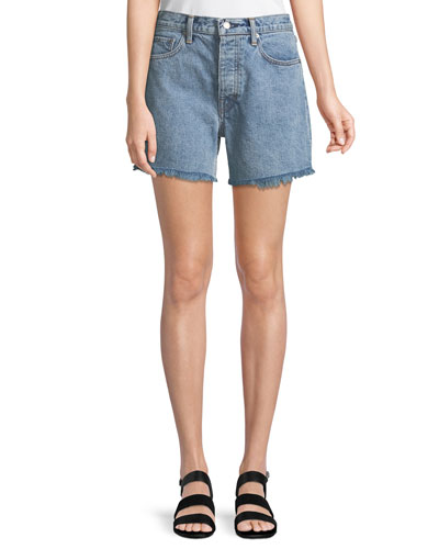 eabfca9980 Boy-Fit Frayed Denim Cutoff Shorts
