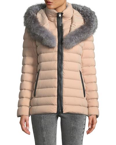 Kadalina Puffer Jacket with Fox Fur