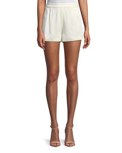 Leala High-Waist Pleated Shorts