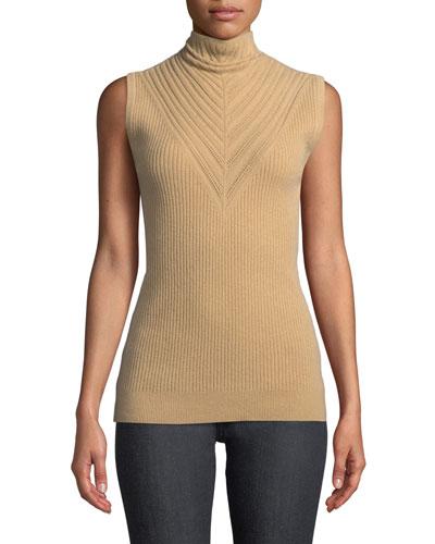 e654e031e4c30 Natalia Sleeveless Turtleneck Ribbed Merino Wool Sweater Quick Look. Elie  Tahari