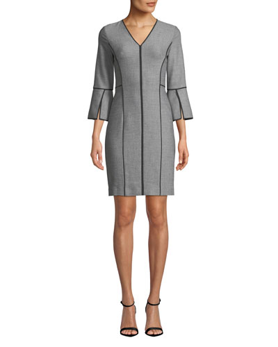 Laurie Contrast-Piping Dress