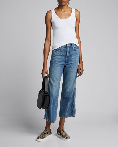 Soft Touch Flat-Edge Scoop-Neck Tank