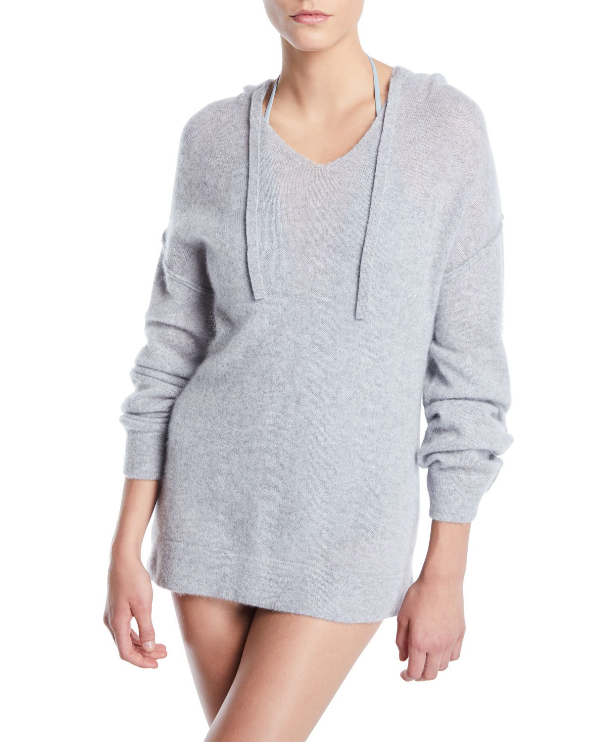 Lauren Hooded Cashmere Coverup