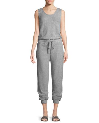 Gabrielle Sleeveless Cotton Jumpsuit