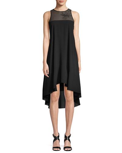 Sleeveless Embroidered Flowy Dress
