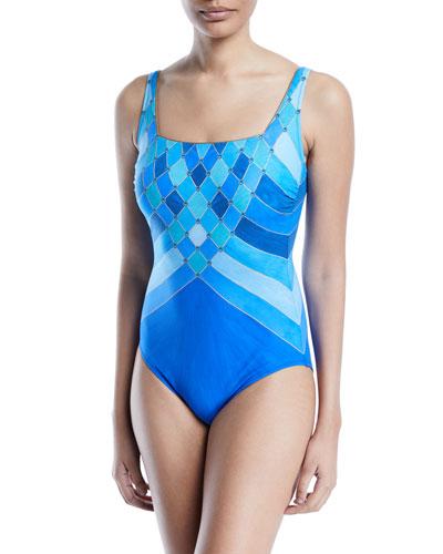 4df52d37366 Mystic Gem Printed One-Piece Swimsuit Quick Look. Gottex