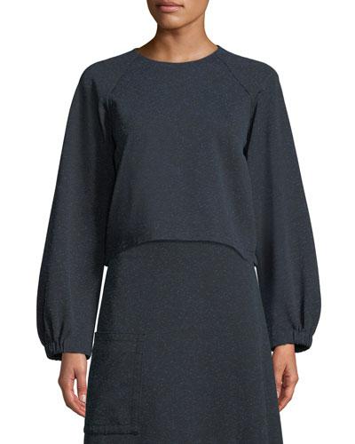 Eclipse Pique Cropped Sweatshirt